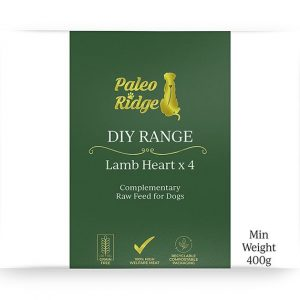 Paleo ridge Lamb Heart x4 DIY frozen Raw dog Food
