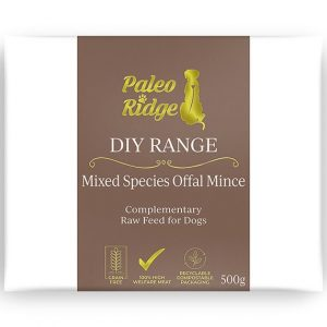 Paleo ridge DIY Mixed Species Offal Mince 500g frozen raw dog food