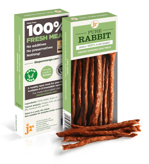 jr pure rabbit sticks 50g dog treats