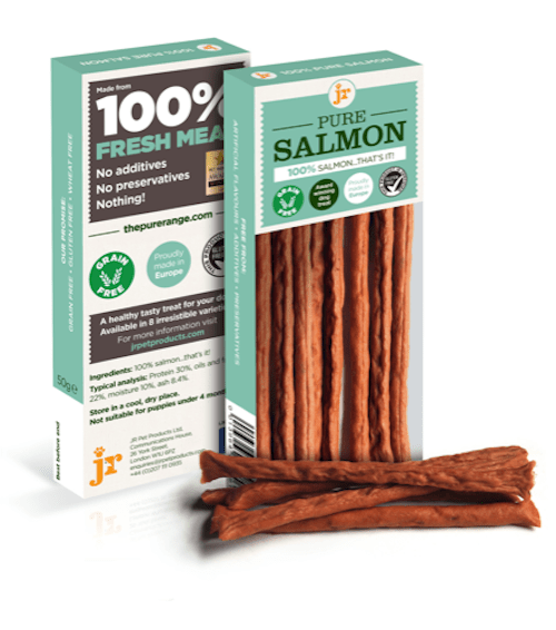 jr pure salmon sticks 50g dog treats