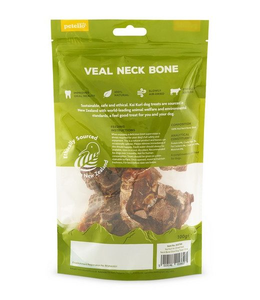 kai kuri air dried veal neck bone slice dog treat