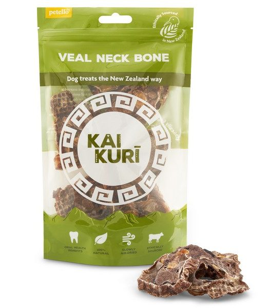 kai kuri aid dried veal neck bone slice dog treat