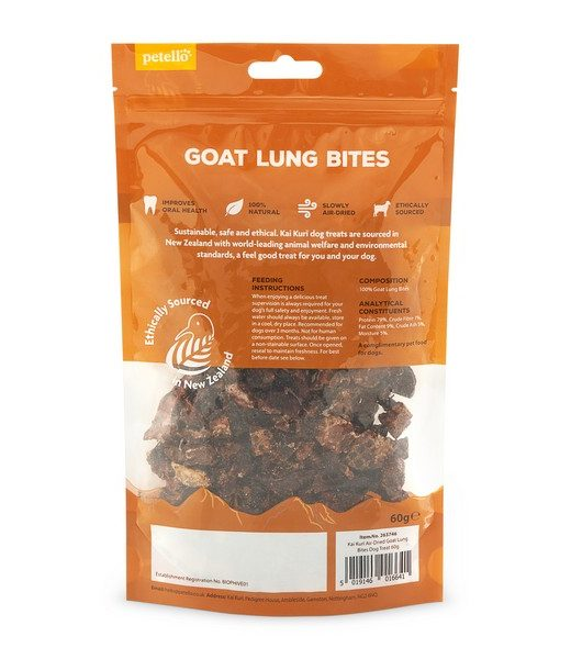 kai kuri air dried goat lung bites